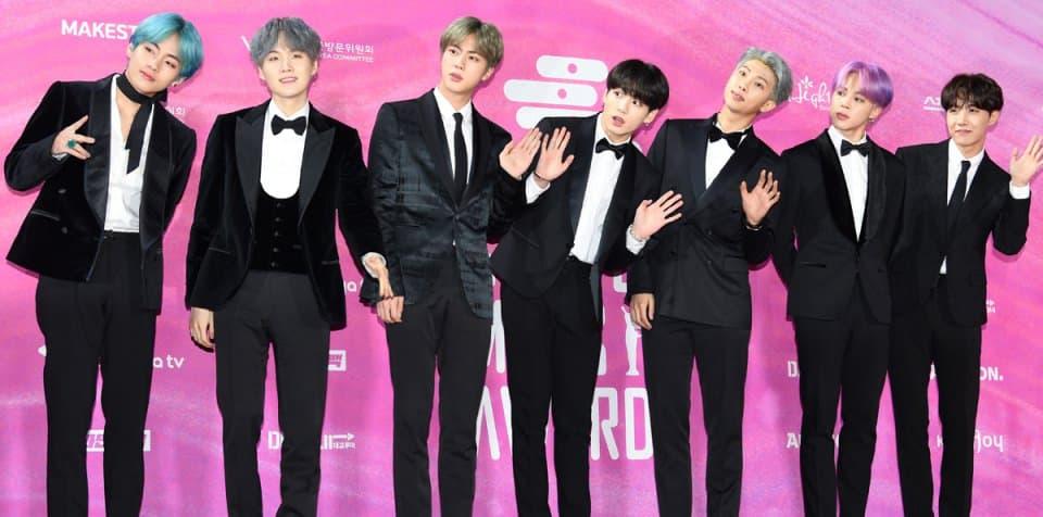Le groupe BTS au Seoul Music Awards