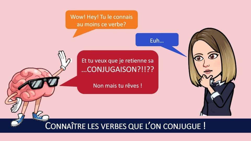 Si vous espérez que votre cerveau retienne la conjugaison de verbes que vous ne connaissez même pas, vous rêvez!
