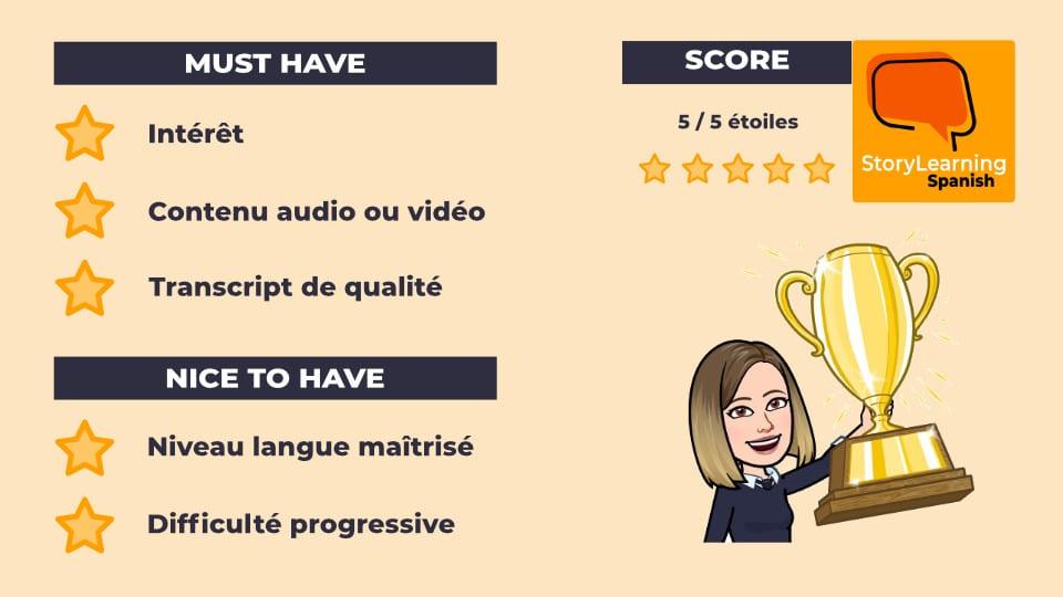 StoryLearning Spanish : un contenu 5 étoiles pour reprendre en douceur l'espagnol